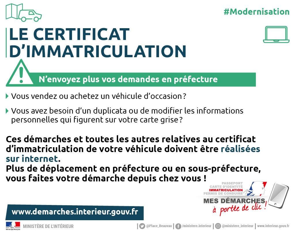demande de carte grise prefecture Cartes grises / Démarches administratives / Accueil   Les services